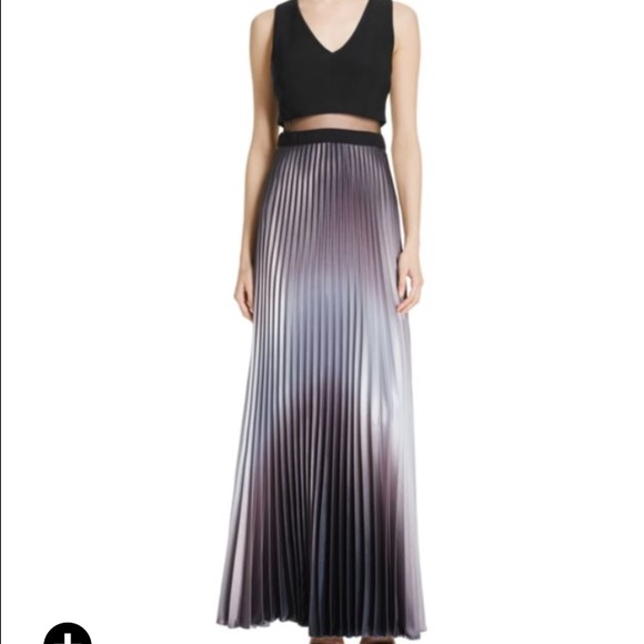 Aqua Dresses | Ombr Illusion Pleated Gown Sz 6 | Poshmark