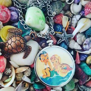 Retro Mermaid Kawaii Necklace