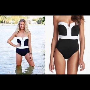 Other - Brand new never worn black and white one piece