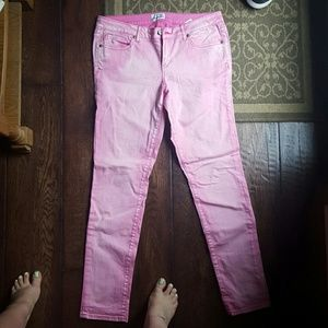 Hot pink ultra skinny jeans