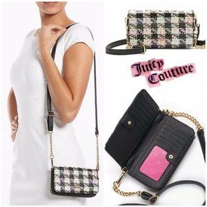 Juicy Couture Handbags - LAST‼️ JUICY COUTURE Black Plaid Crossbody Bag
