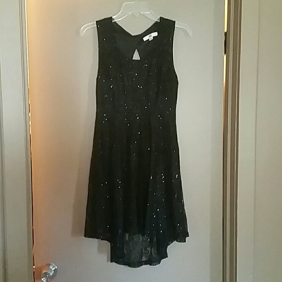 Ya Los Angeles Dresses & Skirts - Sparkly Black Lace Dress