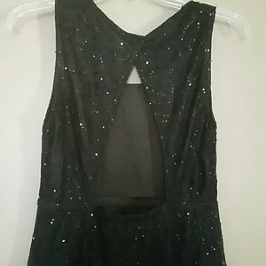Ya Los Angeles Dresses - Sparkly Black Lace Dress