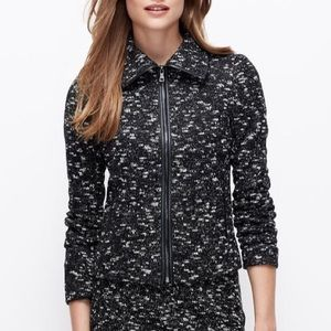 Ann Taylor Marbled Knit Jacket small