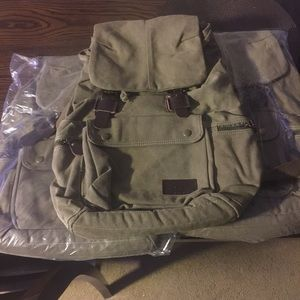 Handbags - Canvas backpack army green