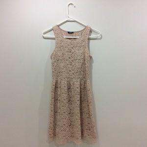 Motivi Dresses & Skirts - Pale Pink Lace Dress