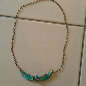 Jewelry - Vintage eagle REAL turquoise sterling silver