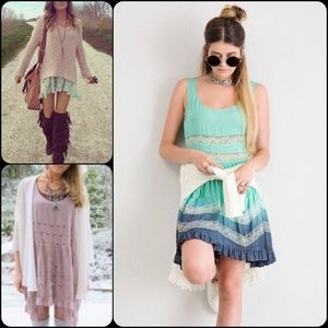 Pretty Persuasions Dresses & Skirts - NWT Mint Viole & Lace Dip Dyed Slip Dress Tunic
