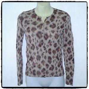Ann Taylor Loft Leopard Print Cardigan. NWOT
