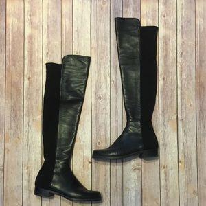 Stuart Weitzman 5050 Black Nappa Boots