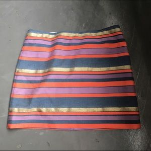 J Crew Rainbow Striped Skirt