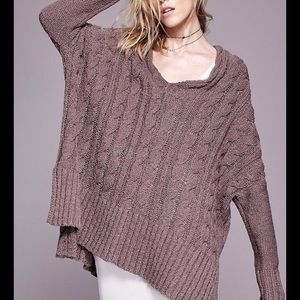 FINAL SALE FREE PEOPLE EASY CABLE SWEATER
