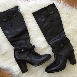 G-Star Shoes - EUC G-Star Raw Knee High Tall Boot Leather Black