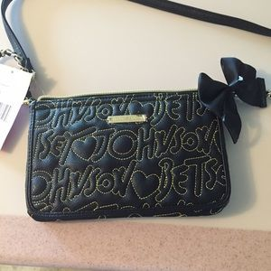 NWT Betsey Johnson Embroidered Signature Crossbody
