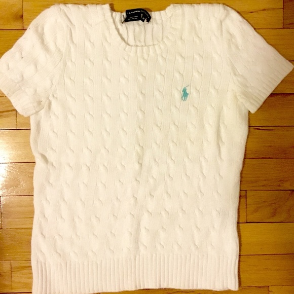 Polo by Ralph Lauren Sweaters   Polo Ralph Lauren Short Sleeve Cable ... 97e18face163