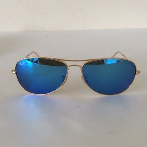 Ray Ban Cockpit Sunglasses RB3362 Blue Lens