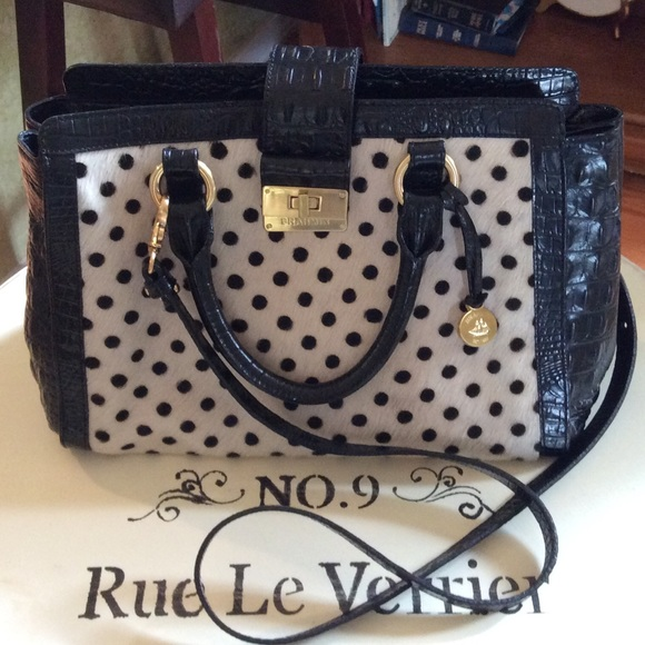 f31bd7f7def4 Brahmin Handbags - Brahmin Luna polka dot bag( rare)
