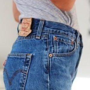Vintage Levis Jean Shorts