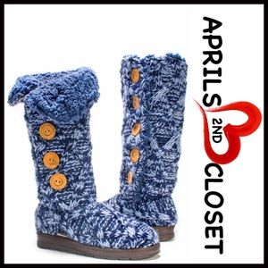 Muk Luks Shoes - ❗1-HOUR SALE❗MUK LUKS Tall SWEATER BOOTS