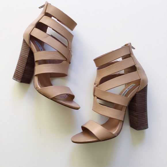 05d7ffd597 Steve Madden Shoes   Nude Strappy High Heels   Poshmark
