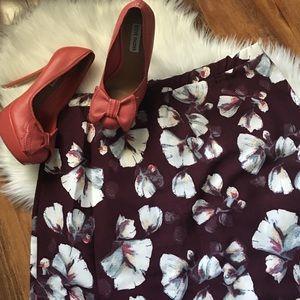 bobeau Dresses & Skirts - Floral mini skirt