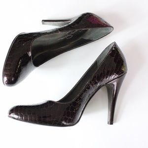 TAKE 50% OFF! Brown Faux Reptile Heels