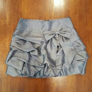 takara Dresses & Skirts - Pin tucked metallic gray skirt