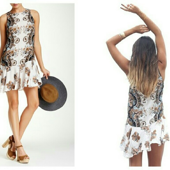 454322098304 Free People Dresses | Nwt Dobby Dot Flouncy Hem Slip Dress | Poshmark