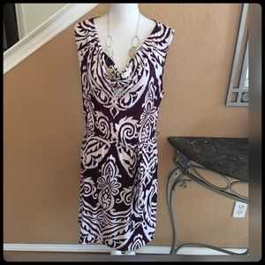 INC International Concepts Dresses & Skirts - ✨🆕 Gorgeous Maroon and White Dress✨