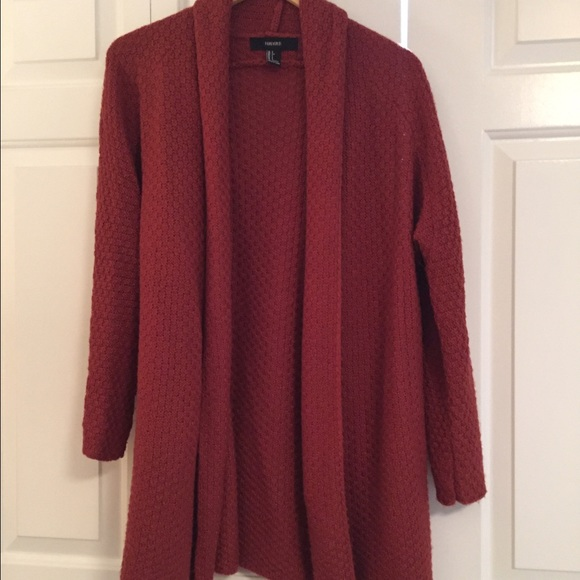 50% off Forever 21 Sweaters - Rust colored cardigan sweater from ...