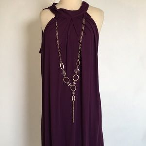 Ultra Flirt purple dress. Size L. Halter dress.