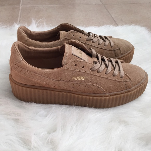Oatmeal Fenty Puma Shoes by Rihanna