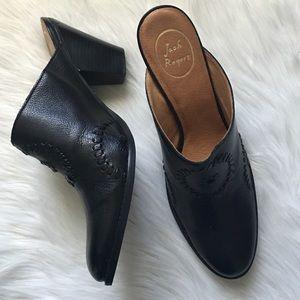 Jack Rogers Shoes - Jack Rogers Black Leather Mule