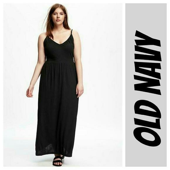 Old Navy Dresses Maxi Dress Black Plus Size 4x Xxxl Poshmark