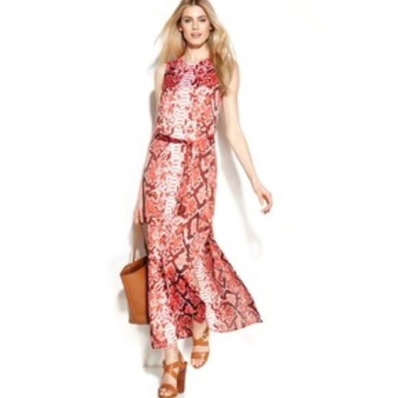 708230b63dba Michael Kors Dresses | Snake Skin Print Maxi Dress | Poshmark