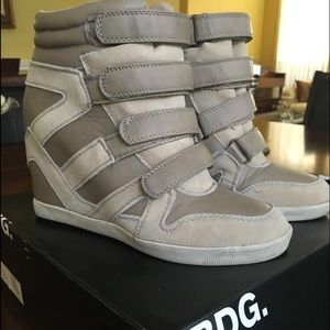 Urban Outfitters BDG Velcro high top sneaker wedge