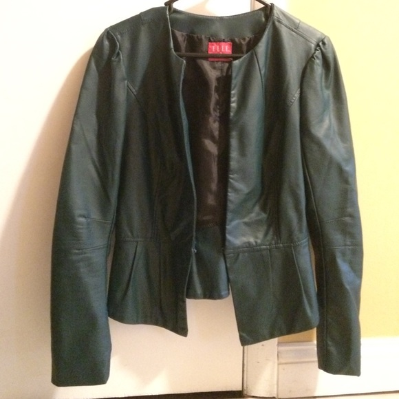 Elle - Jade green Elle faux leather jacket from Alyssa&39s closet on