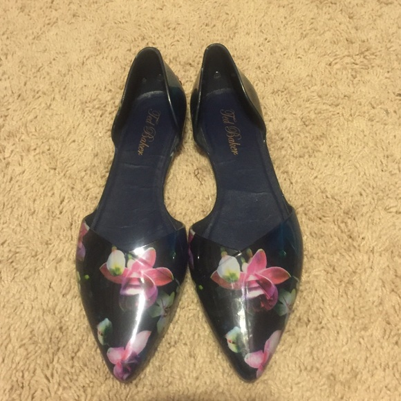 d3e75b7e48 Ted Baker Shoes | Floral Jelly Flats Size Eu Size 39 | Poshmark