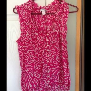 Loft sleeveless medium blouse