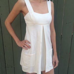 Diane Von Furstenberg white baby doll dress!