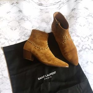 Saint Laurent Shoes - Saint Laurent Studded Wyatt Boot