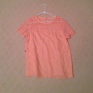 j.crew peach blouse
