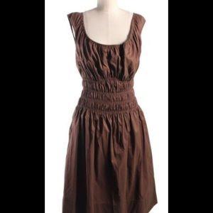 Diane von Furstenberg Dresses & Skirts - Diane Von Furstenberg brown rushed waist dress