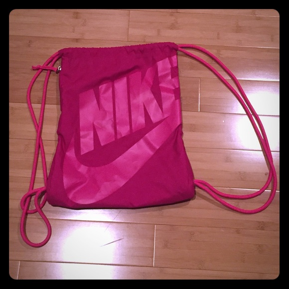 65% off Nike Handbags - Nike Pink Drawstring Bag from Julia's ...