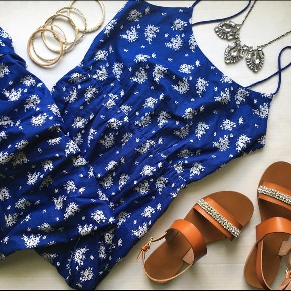 J crew maxi dress blue