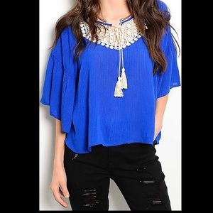Gorgeous Blouse Top in Royal Blue