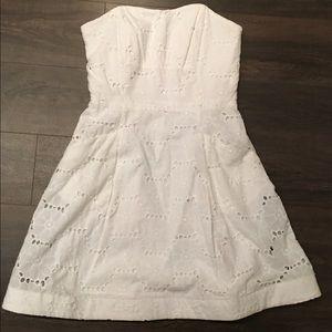 Lilly Pulitzer Strapless White Eyelet Dress