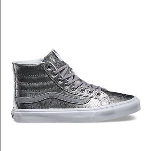 Vans Foil Silver Metallic High Tops