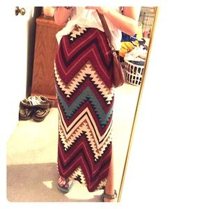 Dresses & Skirts - !!PD! Aztec Tribal Maxiskirt - long beach skirt 🌞