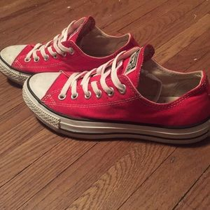 e4ce5e82355c Converse Shoes - Bright red converse low tops size 7